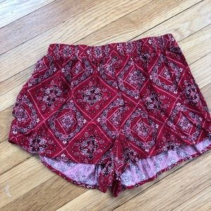 cute red summer shorts